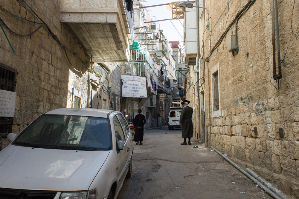 ultra orthodox neighbourhood in Jerusalem city