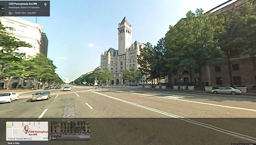 1200 block of Pennsylvania Avenue NW, Google Street View, August 2007