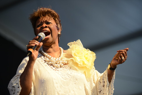 Irma Thomas in the Gospel Tent. Photo by Leon Morris.