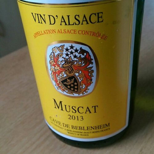 Outstandingly delicate muscat. Vin D'Alsace Muscat 2013 from @Cave de Beblenheim. I'm giving it 4 out of 5 stars with the @vivino_app #vivino