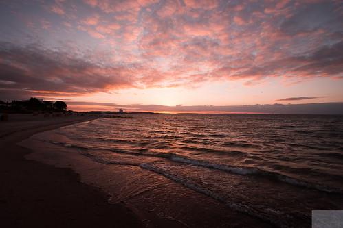 sunset Niendorfer Strand