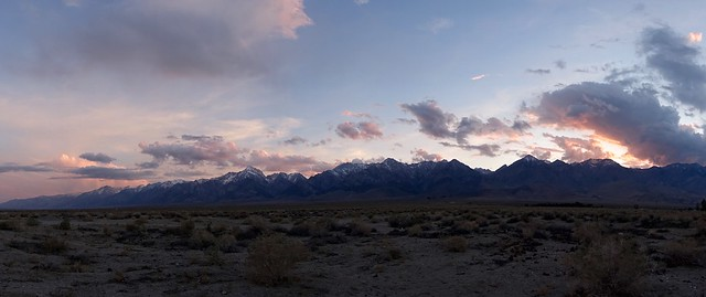Sunset on the Sierra Crest