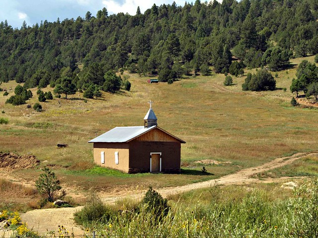Remote wooden Church New Mexico