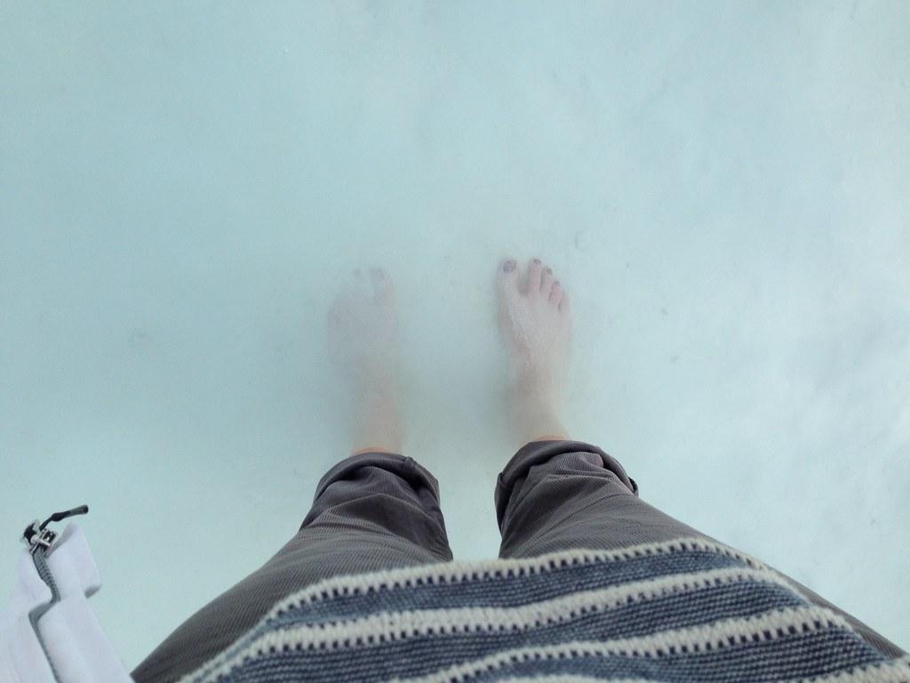 Feet in Pamukkale pools