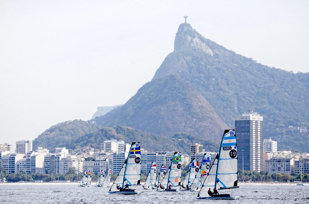 Test-Event Rio 2015 - Sarah Steyaert Aude Compan_Copyright C. Launay-FFVoile