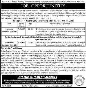 Bureau of Statistics KPK Jobs