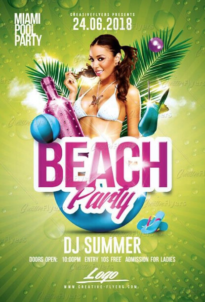 Beach Party Flyer Template | Beach Party Flyer Template Psd Flyer Templates Created By Flickr