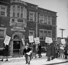 African American parents picket & boycott DC schools: 1947