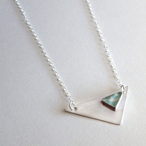 Blossom and Shine Triangles Necklace