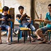 Boys with mobile phones in Beijing, China. by cookiesound