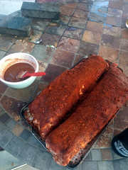 First attempt at dry-rub spare ribs, Burbank, Cali…