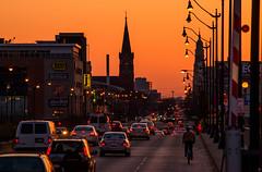 Sunset over Roosevelt Rd