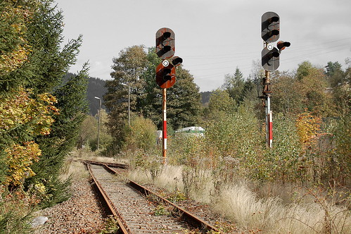 Gräfenthal - Ausfahrt Richtung Probstzella