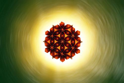 Origami Flower-circle (Marjan Smeijsters)