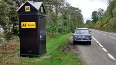 AA box on A82 by Loch Ness