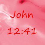 John 12 41