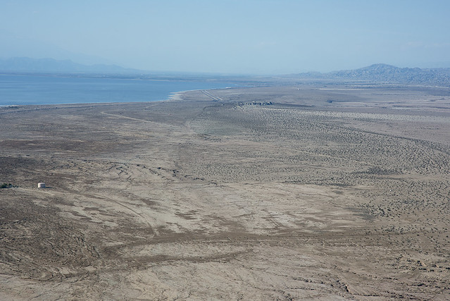 Aerial view of the San Andreas Fault, Durmid Hill, California