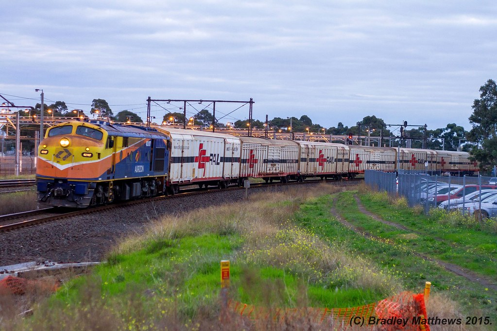 42107 with 9794V up SCT transfer from Laverton to Nth Dynon at Newport (3/6/2015) by Bradley Matthews
