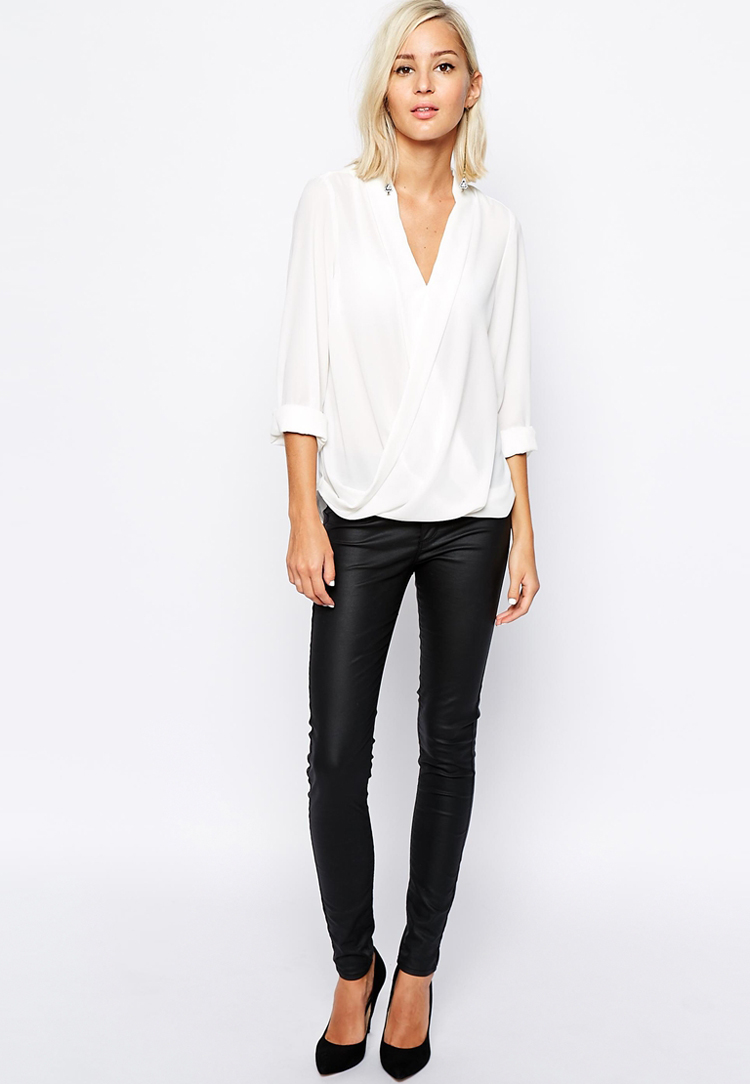 River Island wrap front blouse | SHOP fashion distraction