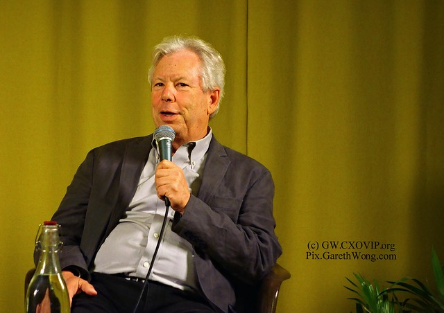 Prof Richard Thaler talked about NudgeFaction NudgeDefence (my question) & his answer #Nudge4Good at SecondHome in London from RAW_DSC2609 @Rohan__Silva @R_Thaler