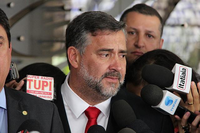 Diputado Paulo Pimenta (PT-RS) durante la rueda de prensa sobre la petición en la OEA - Créditos: Foto: Fabricio Carbonel