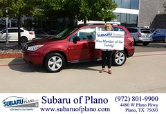 Happy Anniversary to Catherine on your #Subaru #Forester from Aaron Dunson at Subaru of Plano!