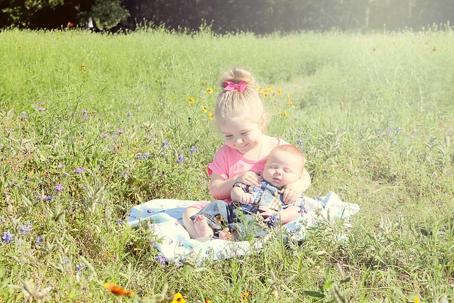 Harper and Finn in the wildflowers