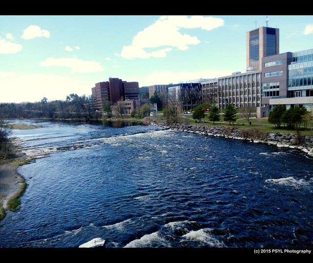 Rideau River flowing through Carleton University