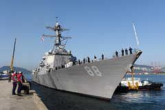 USS Preble (DDG 88) arrives in Busan, May 1. (U.S. Navy/MC1 Abraham Essenmacher)