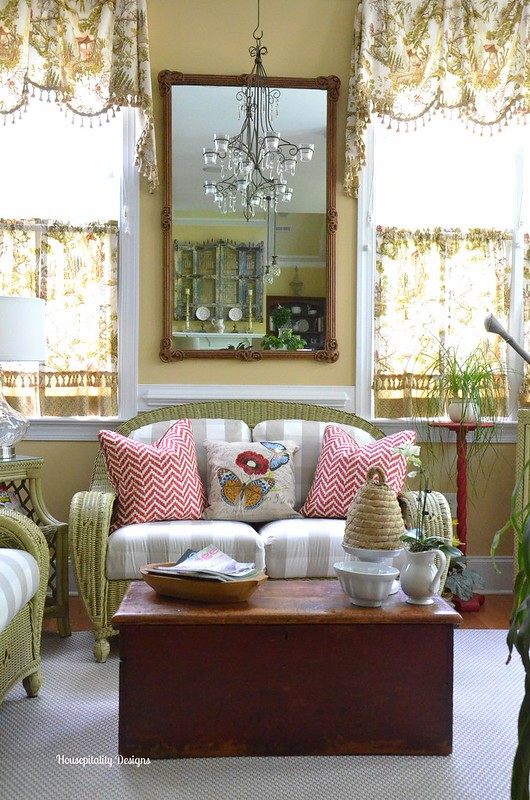 Sunroom/Antique Blanket Chest-Housepitality Designs