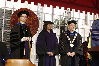 USC Provost Michael Quick, Honorary Degree Recipient California Attorney General Kamala Harris, USC President C. L. Max Nikias