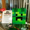 Check out the Minecraft creeper made at LEGO:registered: club yesterday by our YA librarian!
