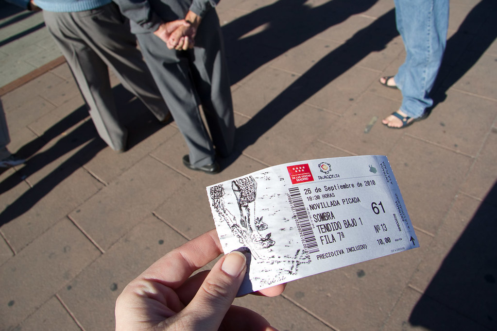 Tickets for bullfight in Madrid