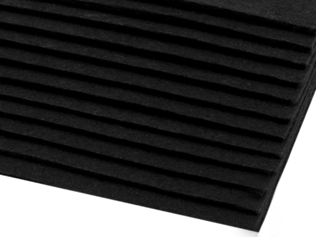 Filz (Stärke 2 - 3mm) schwarz, VE: 12 Bögen