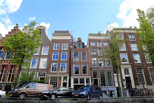 Sometimes Amsterdam houses may lean a bit.