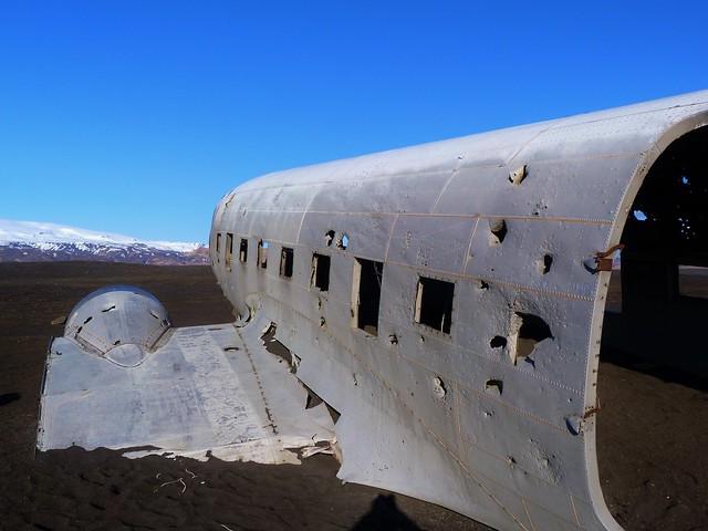 Avión varado en una playa de Islandia