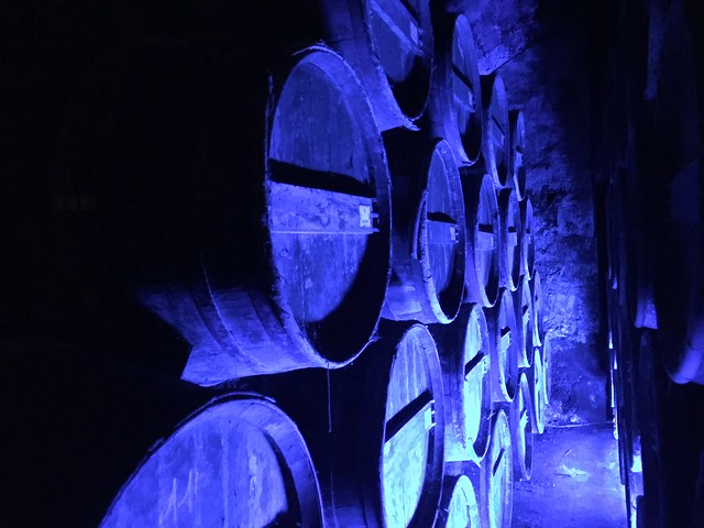 Bodegas de Cognac en el castillo del Baron Otard donde nació Francisco I de Francia