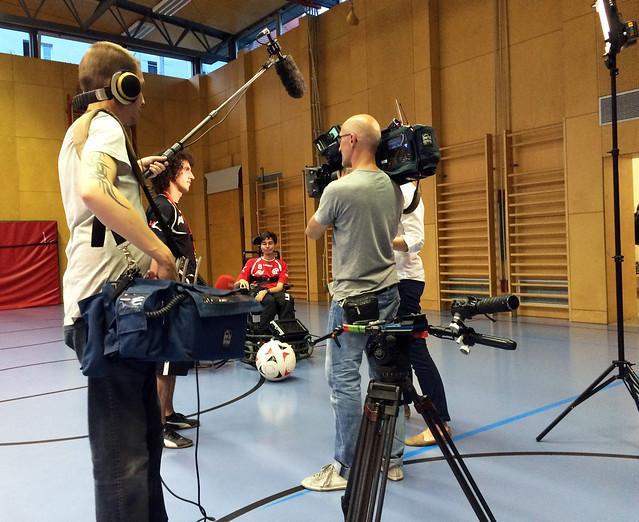 ORF-Aufnahme beim Training am 8. Juni 2015
