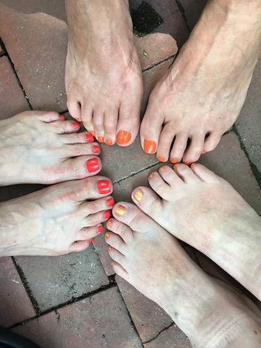 Requisite Daily Kos orange toenail polish exhibition