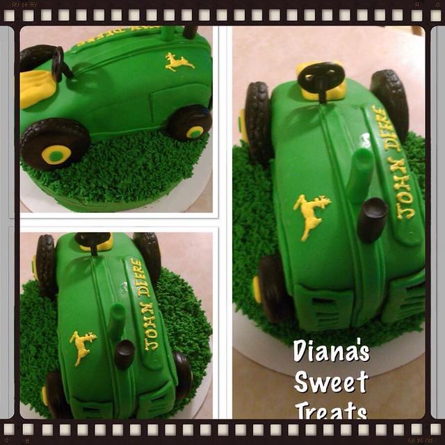 John Deer Tractor Cake by Diana's Sweet Treats