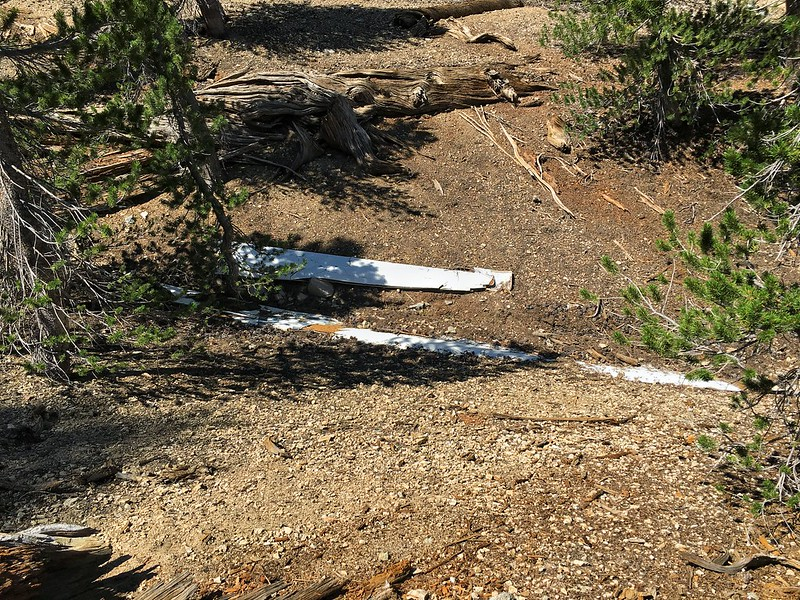 Aircraft Wreckage near Mt. Baden Powell