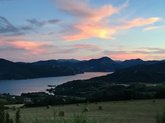 Sunset over Lac Serre-Poncon