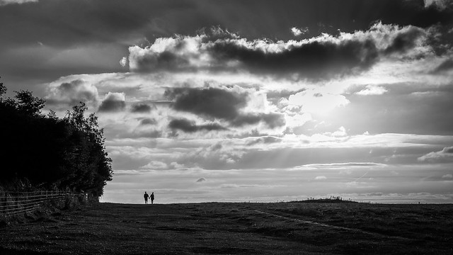 A couple in love - Amesbury, England - Black and white street photography