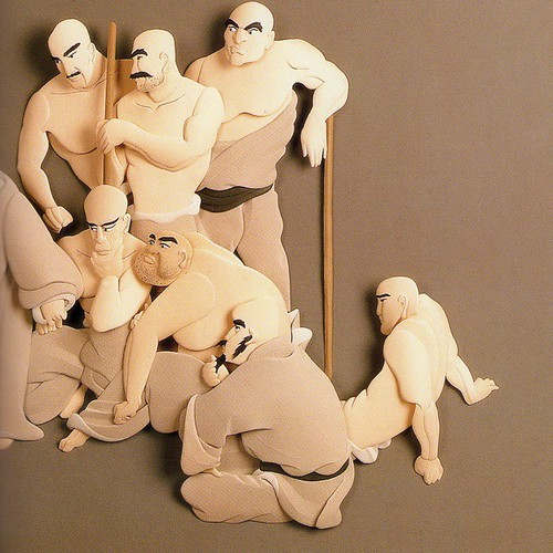 Paper Sculpture Characters by Ching Fang Wu
