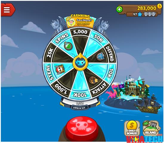 Hack Pirate Kings bằng phần mềm Cherles