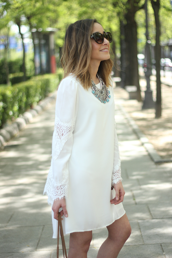 white dress with lace sleeves14
