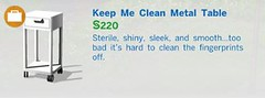 Keep Me Clean Metal Table