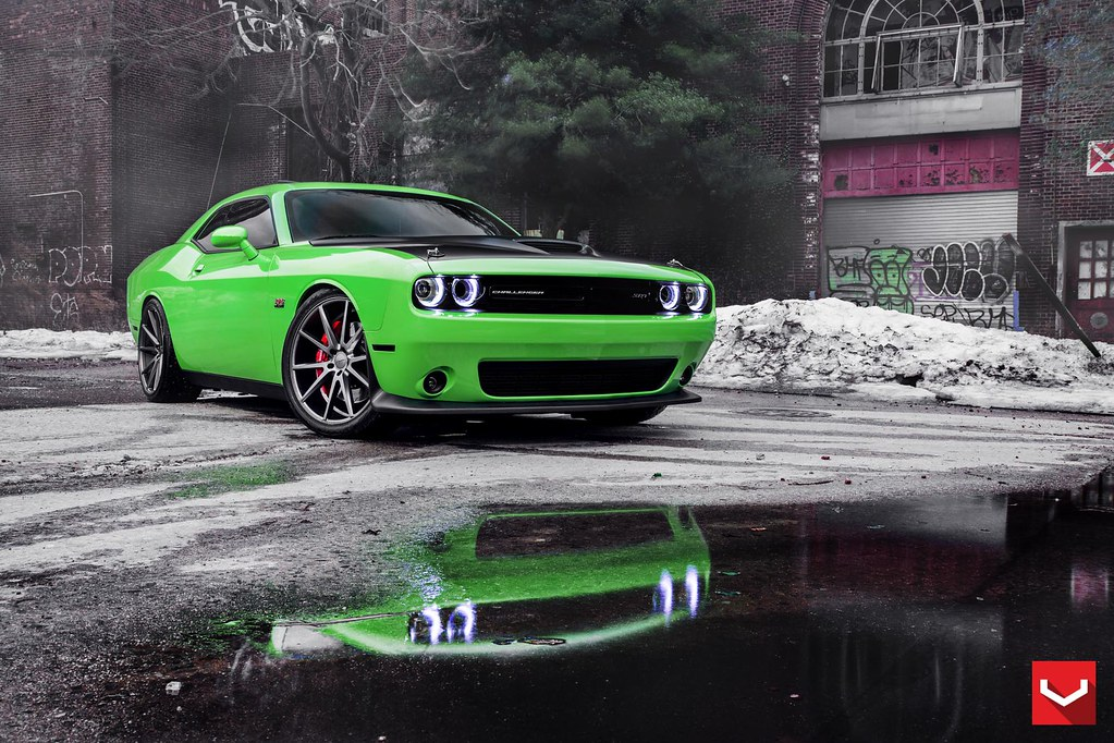 2015 dodge challenger srt8 392 22 matte graphite vfs1 vossen. Black Bedroom Furniture Sets. Home Design Ideas