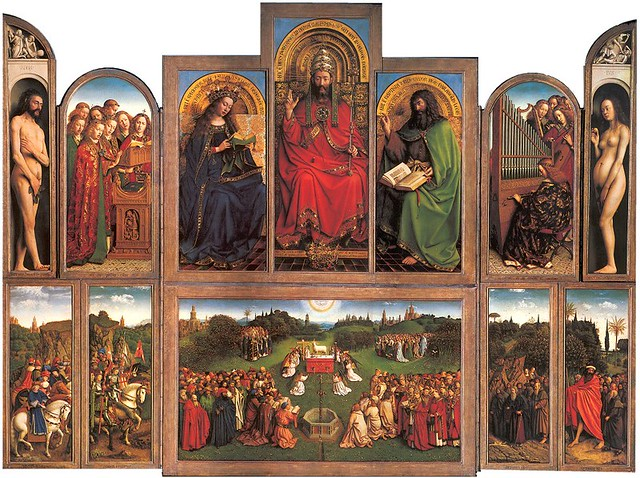 La Adoración del Cordero Místico de los hermanos Van Eyck (Catedral de San Bavón, Gante)