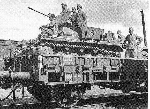 Flakpanzer 1 on Railway